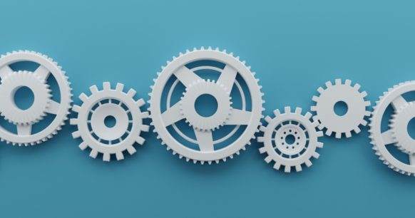 connected gears and cogs