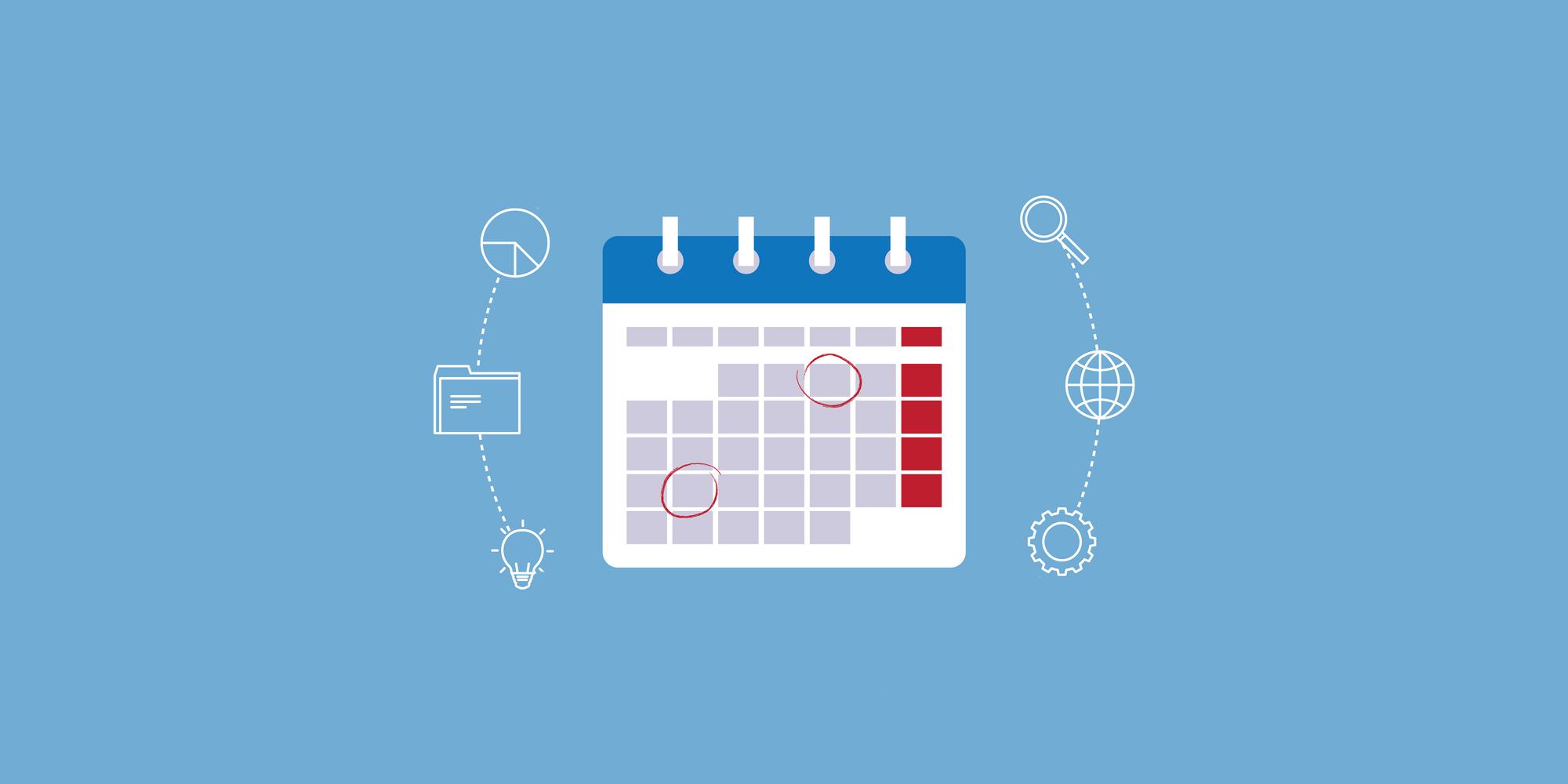 Digital art of a calendar